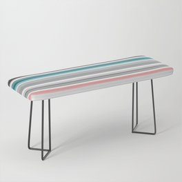 grey and colored stripes Bench