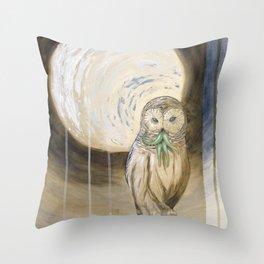 Owlthulhu Throw Pillow