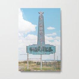 Stardust Motel Marfa, Texas Metal Print