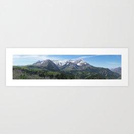 Mount Timpanogos in Utah's Wasatch Mountain Range Art Print