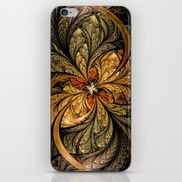 Shining Leaves Fractal Art iPhone Skin