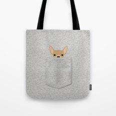 Pocket Chihuahua - Tan Tote Bag