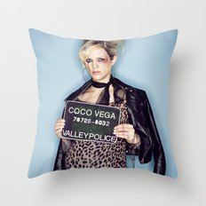 1960's Mugshot Throw Pillow