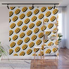 Super M. Bros coins pattern   retro gaming nostalgic pattern Wall Mural