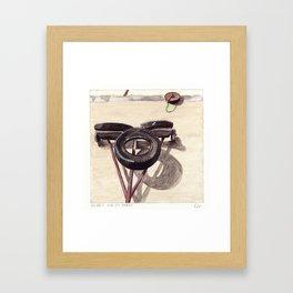 Fer et Pneus Framed Art Print