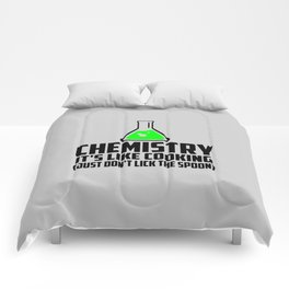 Chemistry funny quote Comforters