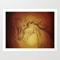 Horse Play II Art Print