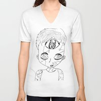 third eye V-neck T-shirts featuring Third Eye by Adam M. Snowflake