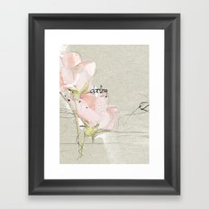 soft magnolia Framed Art Print
