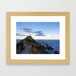 Nugget Point Lighthouse Framed Art Print