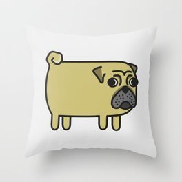 1# I like big pugs Throw Pillow