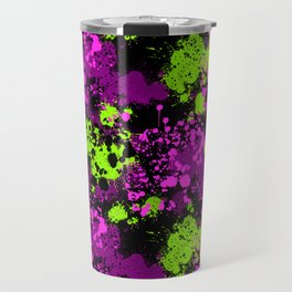 Paint splatter seamless pattern Travel Mug