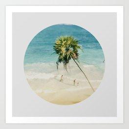 Tilt Shift Beach Photo Art Print