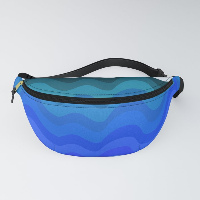 Retro Ripple Sea Wave Fanny Pack