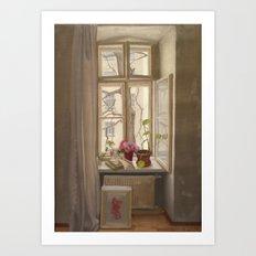 Pantzergasse, Winter Art Print