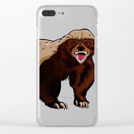 Honey badger illustration Clear iPhone Case