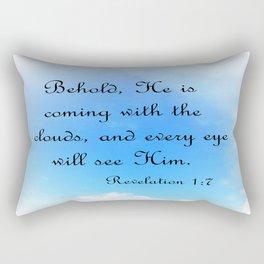 Behold He is Coming Rectangular Pillow
