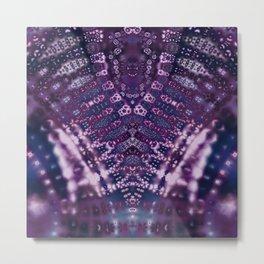 Purple Fractal Lace V Shape Metal Print