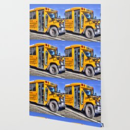 American School Bus Wallpaper