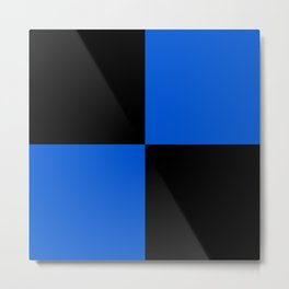 Big mosaic blue black Metal Print