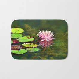 Water Lily and Frog Bath Mat