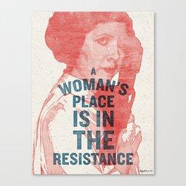 Resist Canvas Print