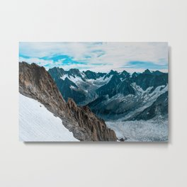 Clouds Over Mountains 5k Wallpaper Metal Print