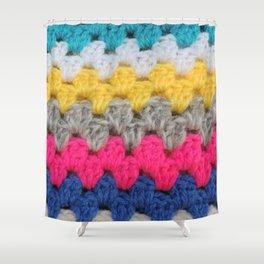 Granny Squares Shower Curtain