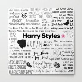 Harry Styles lyrics Metal Print