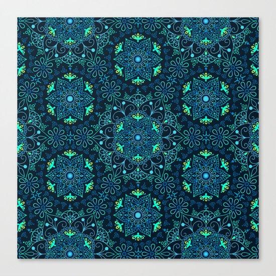 Mandala_Cerulean Canvas Print