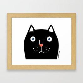 Catz! (black) Framed Art Print