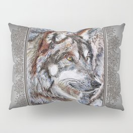 Gray Wolf Watches and Waits Pillow Sham