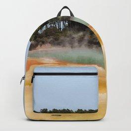 Wai-O-Tapu Geothermal, New Zealand Travel Artwork Backpack