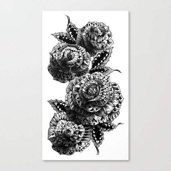 Four Roses Canvas Print