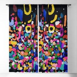 Original Abstract Painting by Ejaaz Haniff Rainbow Rain At Night Blackout Curtain