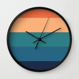 70's Retro Sunset Wall Clock