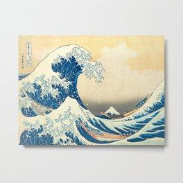 Japanese Woodblock Print The Great Wave of Kanagawa by Katsushika Hokusai Metal Print