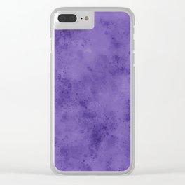 Watercolor Splattering in Ultra Violet (2018 Pantone color) Clear iPhone Case