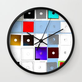 Opposites Are Attractive Wall Clock
