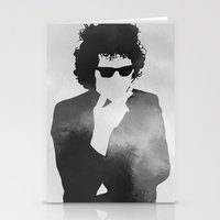 bob dylan Stationery Cards featuring Bob Dylan by Jeroen van de Ruit