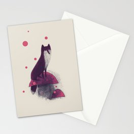 Little Fox and Mushrooms Stationery Cards