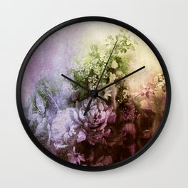 bouquet with atmosphere        http://society6.com/clemm?promo=X9B3VVZDM7J6 Wall Clock