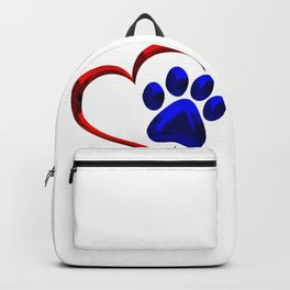 Paw Print on My Heart Backpack