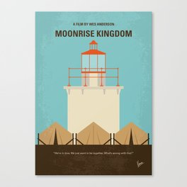 No760 My Moonrise Kingdom minimal movie poster Canvas Print