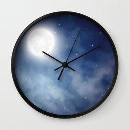 Night sky moon Wall Clock