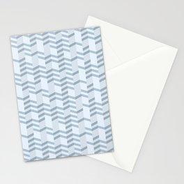 Blue Chevron Cuts Stationery Cards