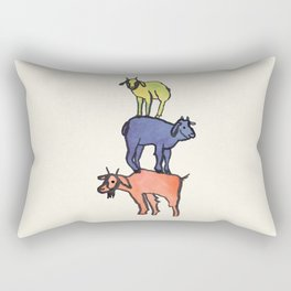 3 Billy Goats Up Rectangular Pillow