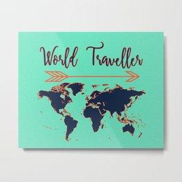 World Traveller Metal Print
