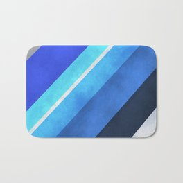Parallel Blues Bath Mat
