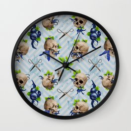 Blue Is Bleeding Through Wall Clock